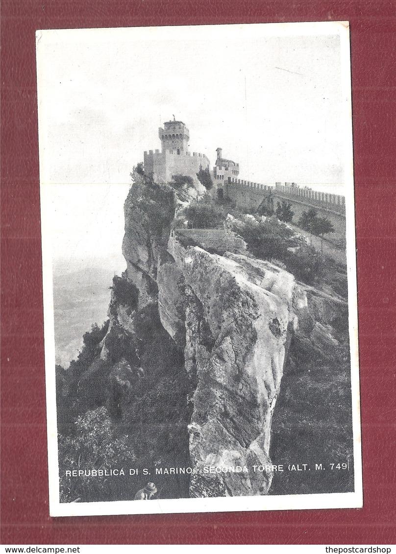 SAN MARINO PANORAMA SECONDA TORRE NON VIAGGIATA  FORMATO PICCOLO SMALL SIZE - Saint-Marin