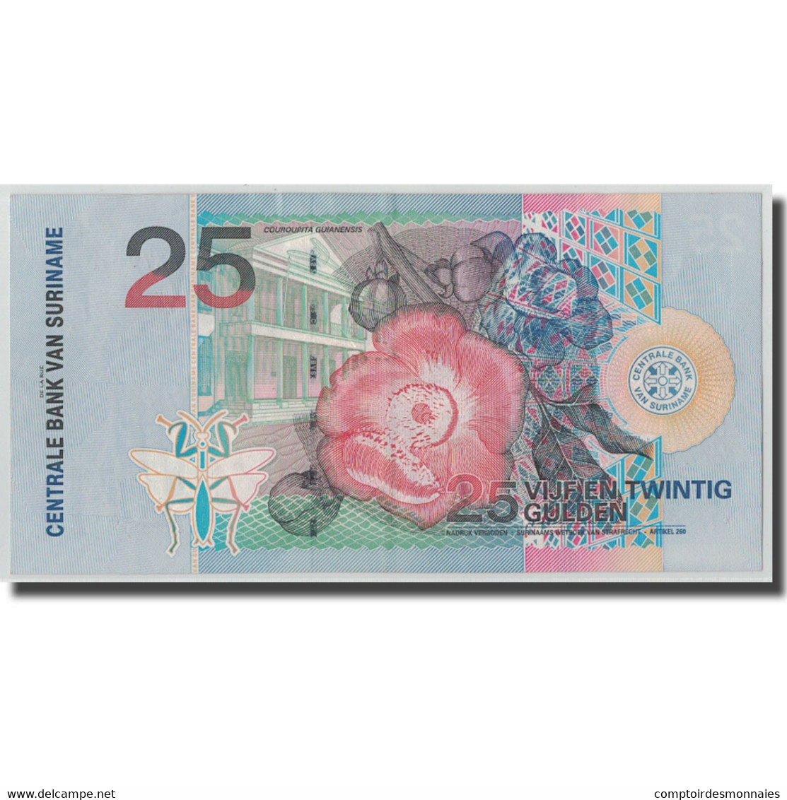 Billet, Surinam, 25 Gulden, 2000, 2000-01-01, KM:148, TB+ - Surinam