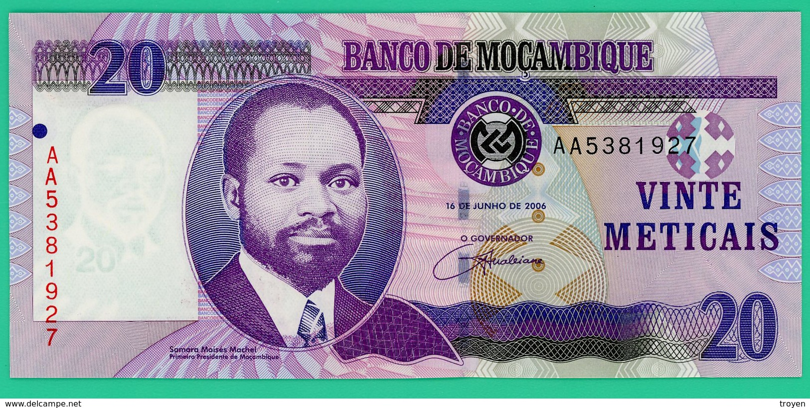 20 Meticais - Mozambique - 2006 - N° AA5381927 -   Neuf - - Mozambique