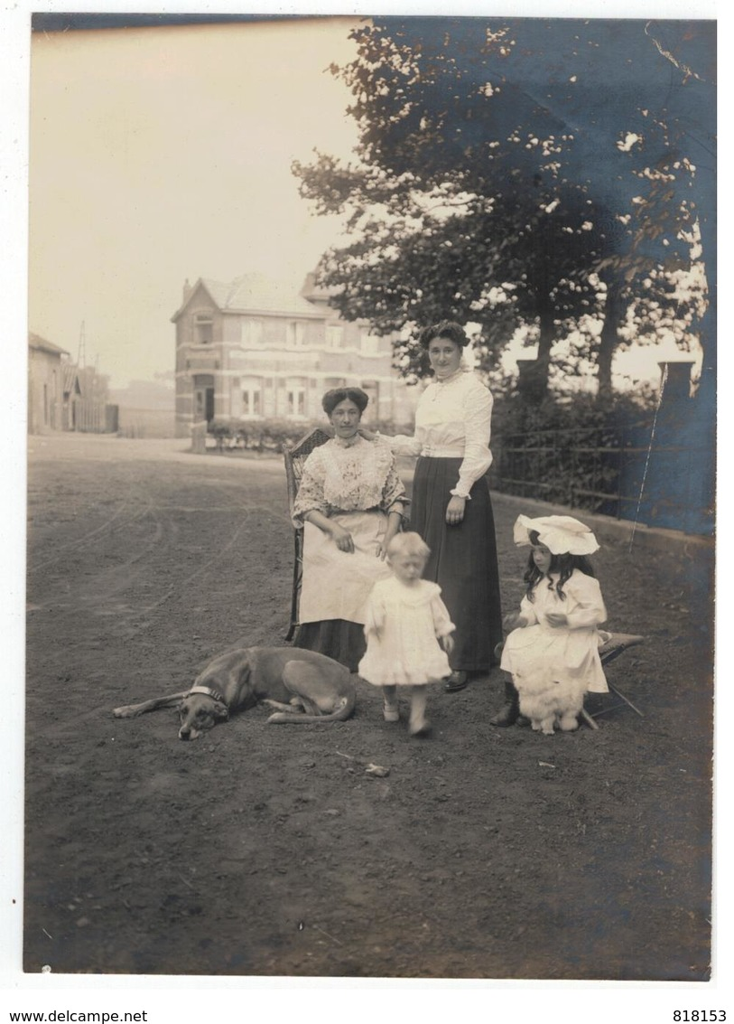 Dilbeek Station ;originele Oude Foto (12x16cm) 26/7/1908 Uit Oude Fotoalbum Van 1908 - Dilbeek