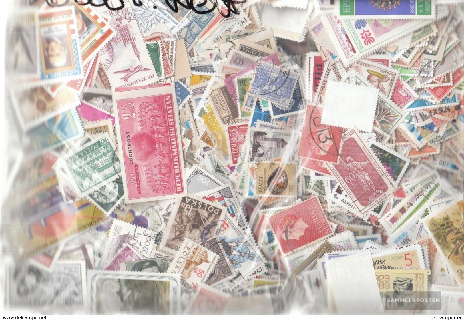 All World 30.000 Different Stamps - Collections (without Album)