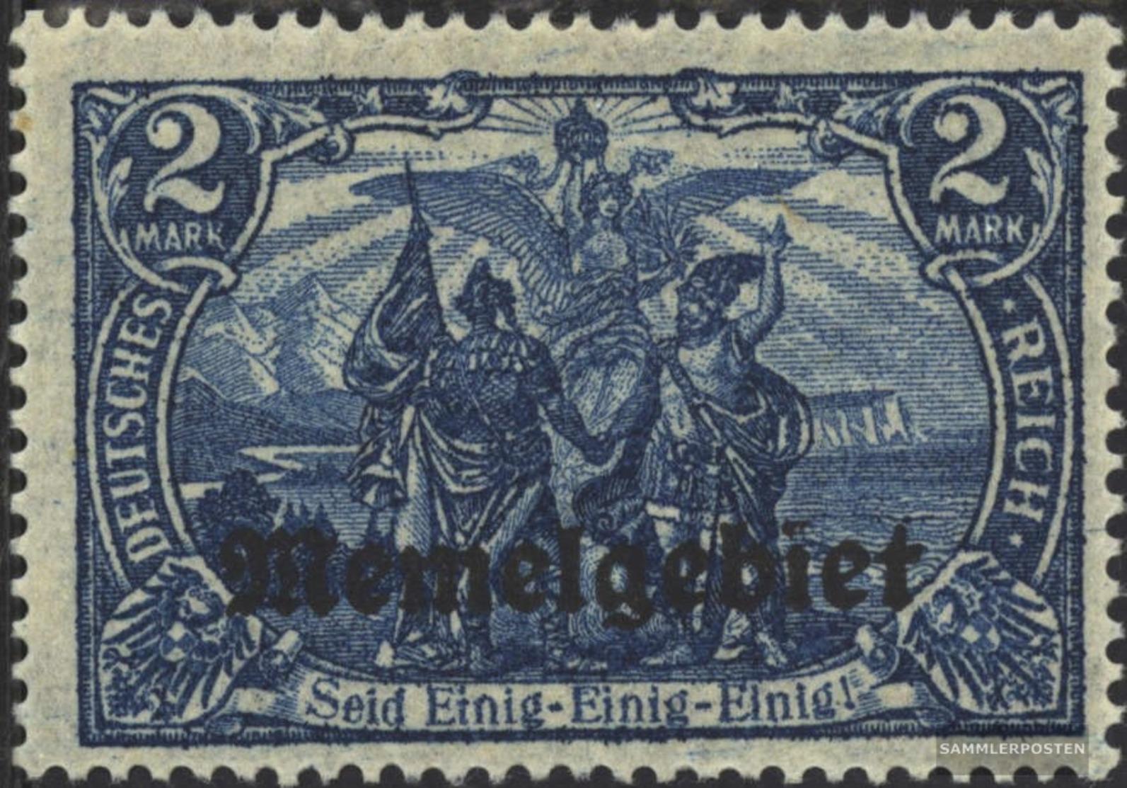 Memelgebiet 12 Con Fold 1920 Stampa Edizione - Klaïpeda