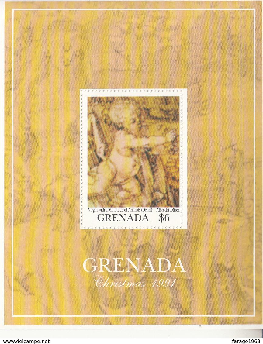1991 Grenada Christmas Noel Durer Paintings Art Complete Set Of 2 Souvenir Sheets MNH - Sonstige
