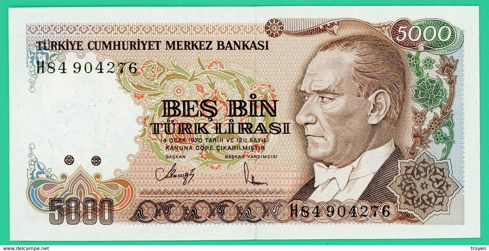 5000 Lira - Turquie - 1970 - N° H4904276 -  Neuf - - Turquie