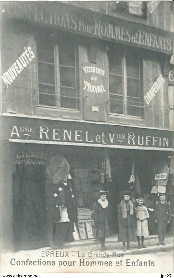 27 CPA EVREUX Confections Pour Hommes Et Enfants André RENEL & Valentin RUFFIN Vêtement De Travail - Evreux