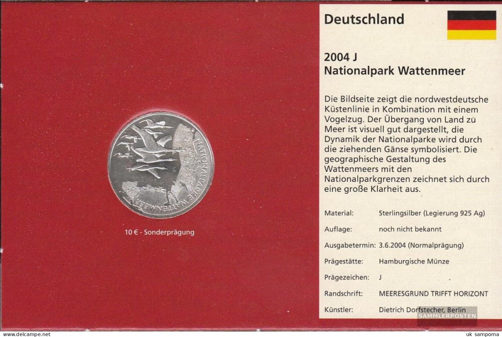 FRD (FR.Germany) Jägernr: 507 2004 J Stgl./unzirkuliert Silver Stgl./unzirkuliert 2004 10 Euro Nationalparke Wattenmeer - Germany