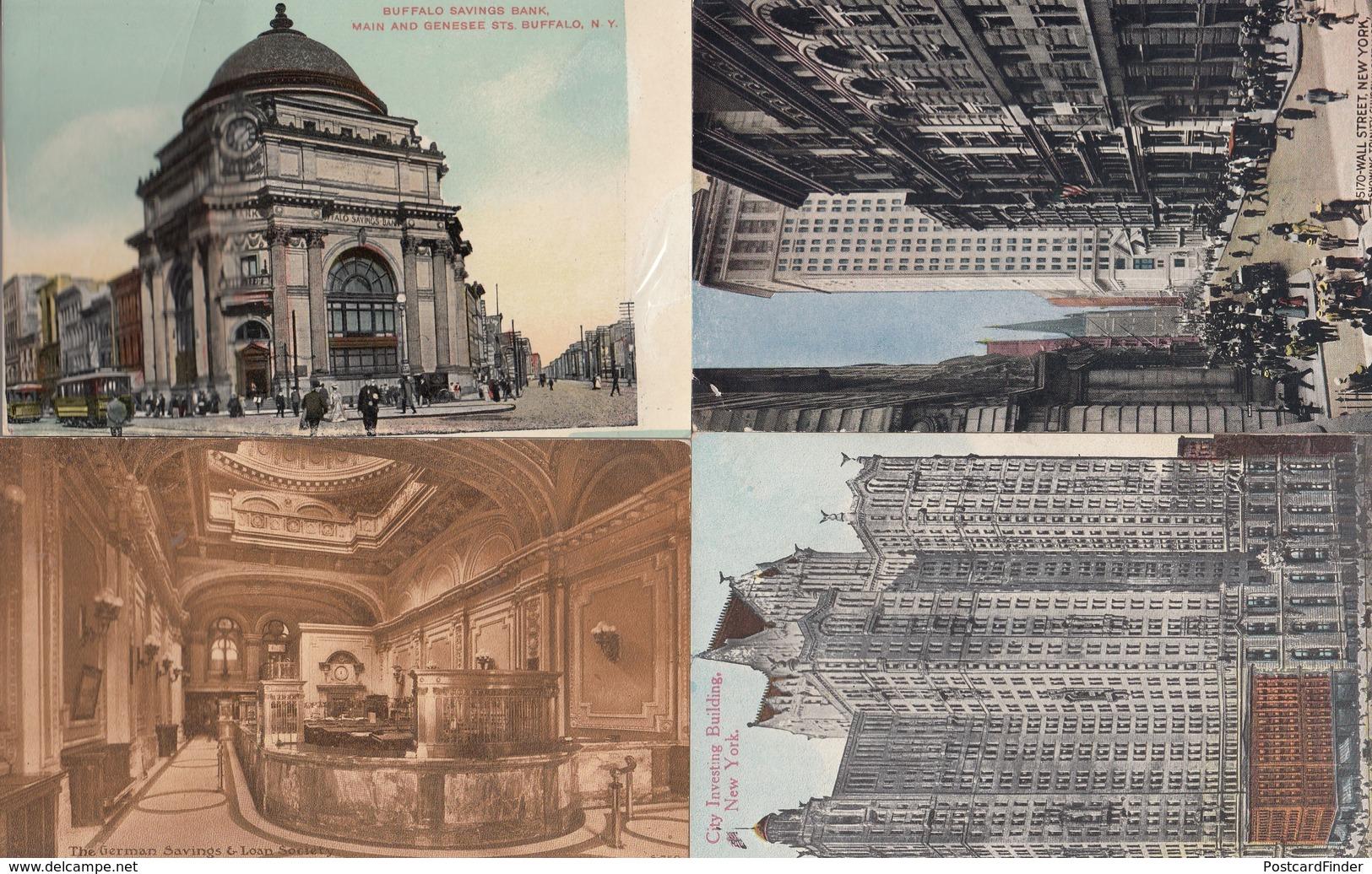 New York Stock Exchange Bank USA 12x Old Money Postcard S - Banques