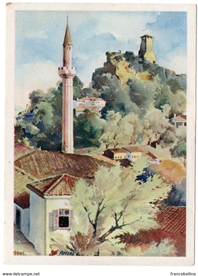 ALBANIE/ALBANIA - KRUJA MOSCHEA E LA TORRE/MOSQUEE ET LA TOUR / ILLUSTRATORE PIFFERO - Albania
