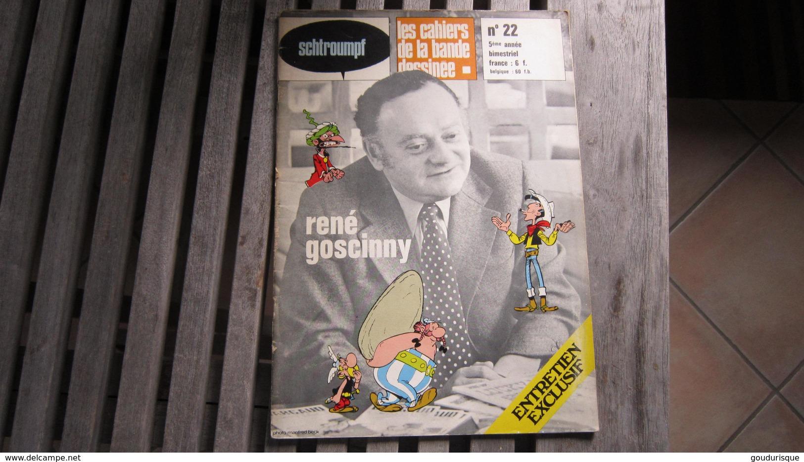 SCHTROUMPF LES CAHIERS DE LA BANDE DESSINEE N°22     GOSCINNY REVUE D'ETUDE - Autre Magazines