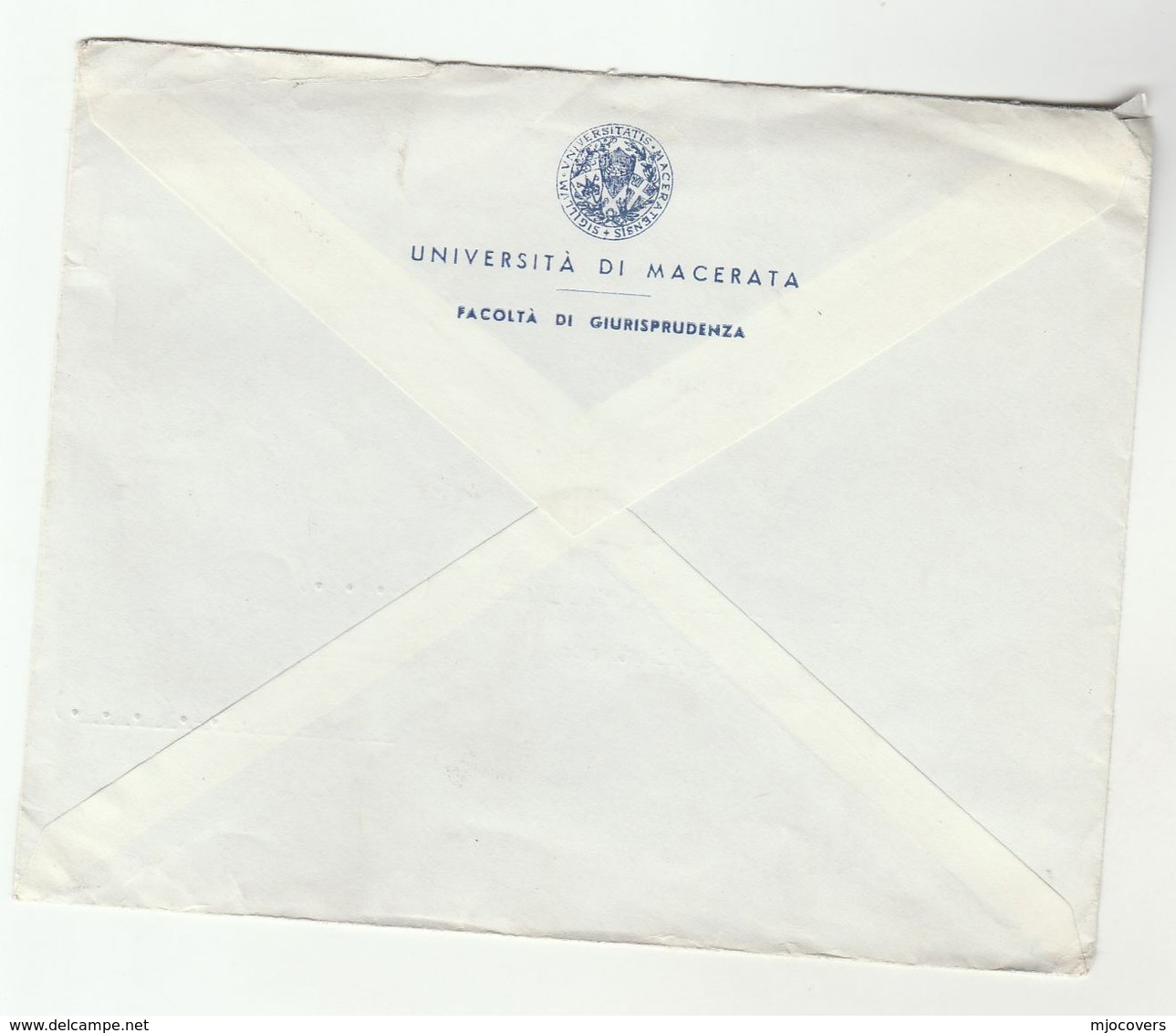 1960s University Macarata ITALY To UNITED NATIONS USA Un Cover Stamps - UNO
