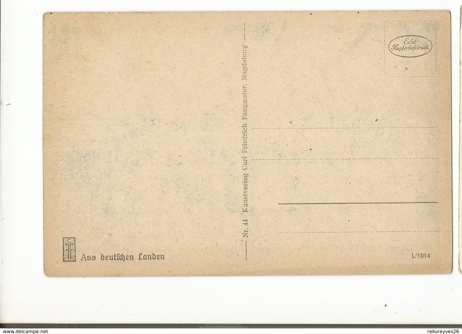 CPA , Allemagne , N° 44 , Magdeburg ,Alt Magdeburg An Dee Elbe,  Serie L/1014, Ed. C.F. - Magdeburg