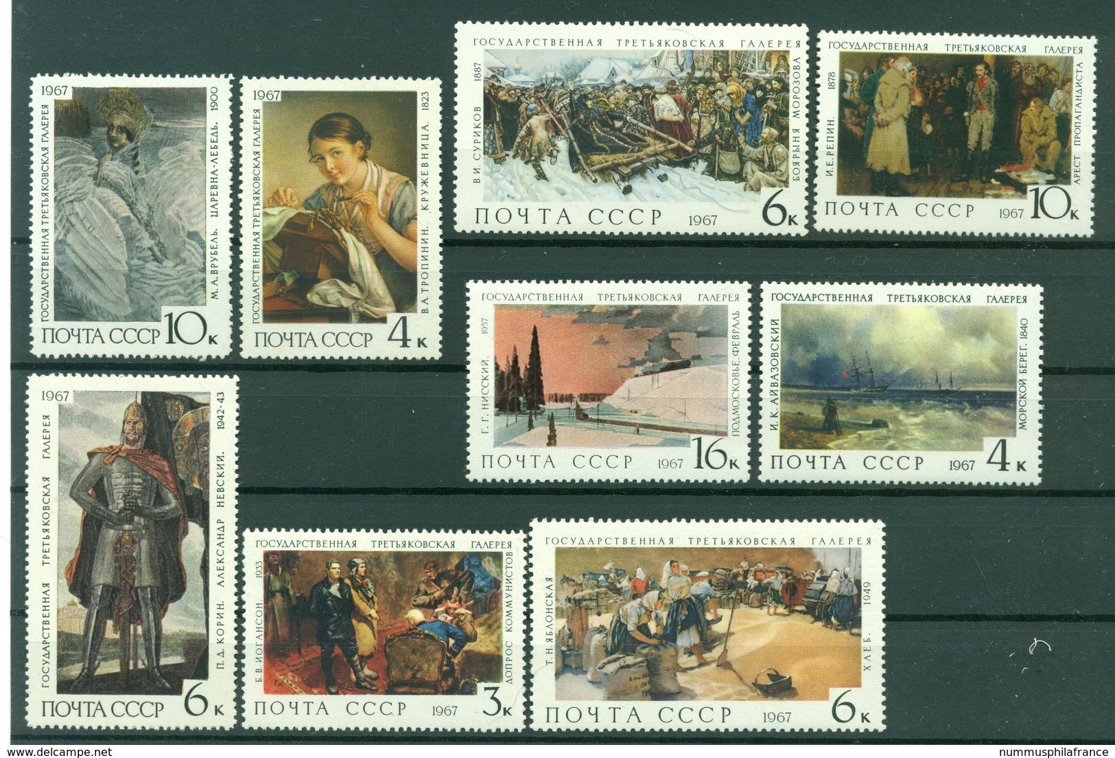 URSS 1967 - Y & T N. 3320/28 - Galerie Tretiakov - 1923-1991 UdSSR