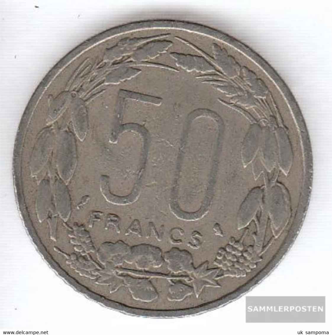 Equatorial-Africa-States Km-number. : 3 1963 Very Fine Copper-Nickel Very Fine 1963 50 Francs Antelope - Coins