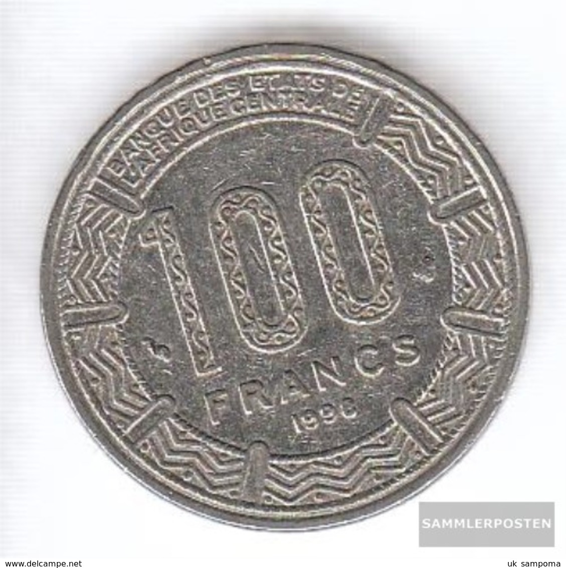 Central African States Km-number. : 13 1998 Very Fine Nickel Very Fine 1998 100 Francs Antelope - Central African Republic