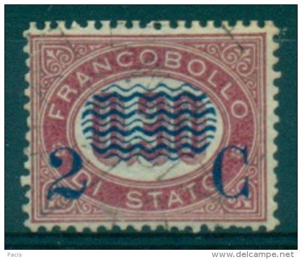REGNO 1878 FRANCOBOLLI DI SERVIZIO SOPRASTAMPATI  2 C. SU 0,30   ANNULLO LIEVE - Servizi