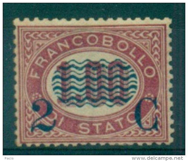 REGNO 1878 FRANCOBOLLI DI SERVIZIO SOPRASTAMPATI  2 C. SU 1,00  MNH** - 1861-78 Vittorio Emanuele II