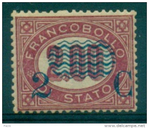 REGNO 1878 SERIVIZIO SOPRASTAMPATI 0,02 C.  SU 2,00 MVVLH - Servizi