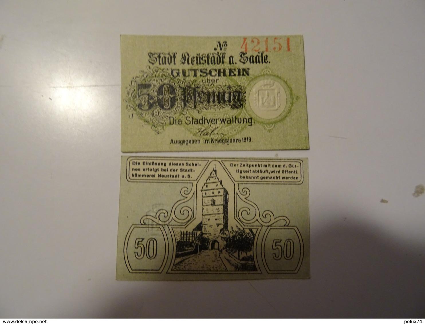 ALLEMAGNE  50 PFENNIG   1919 - Allemagne