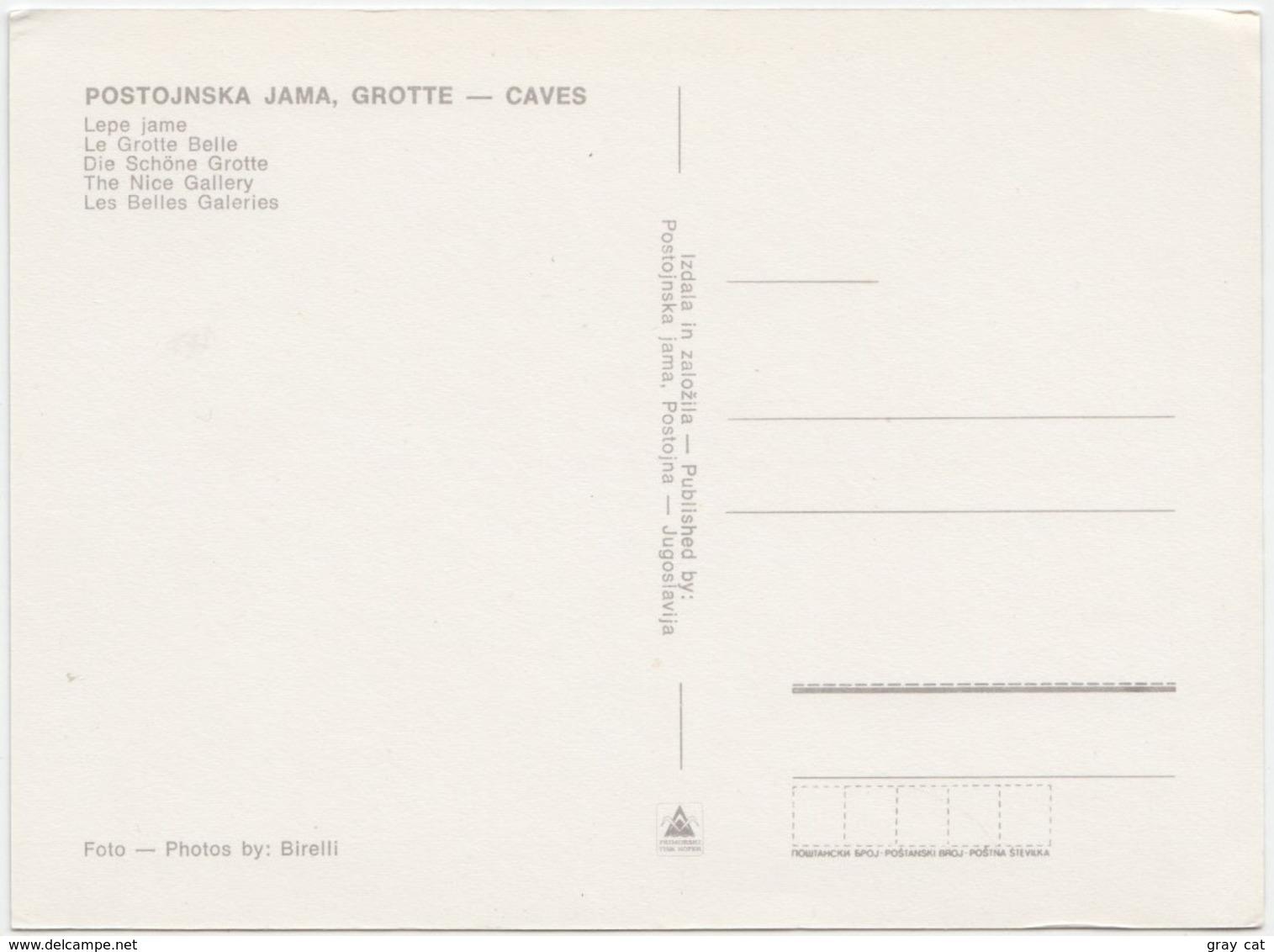 Slovenia, POSTOJNSKA JAMA, Caves, The Nice Gallery, Unused Postcard [21903] - Slovenia