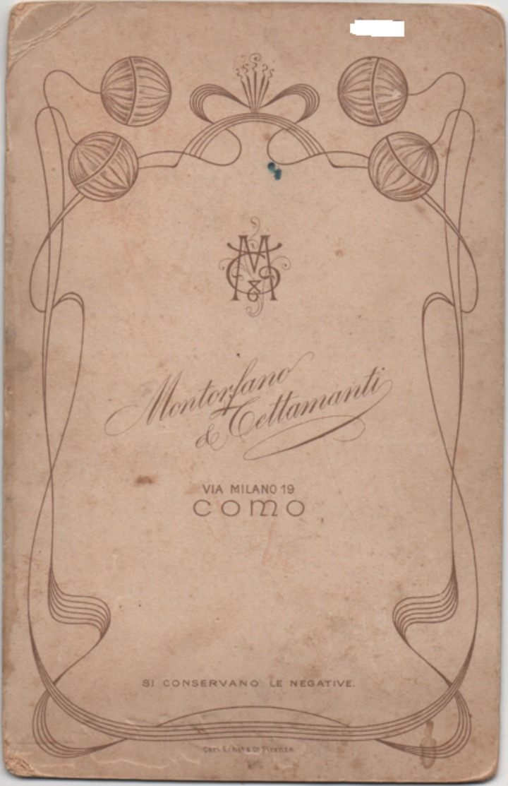 Fotografia Su Cartoncino Cm. 10,8 X 16,7 Di Militare In Posa. Studio Montorfano & Tettamanti, Como - War, Military