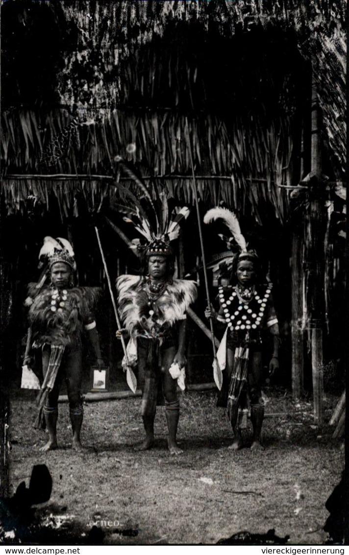 ! Old Photocard Borneo, Malaysia,  Asia, Eingeborene - Malaysia