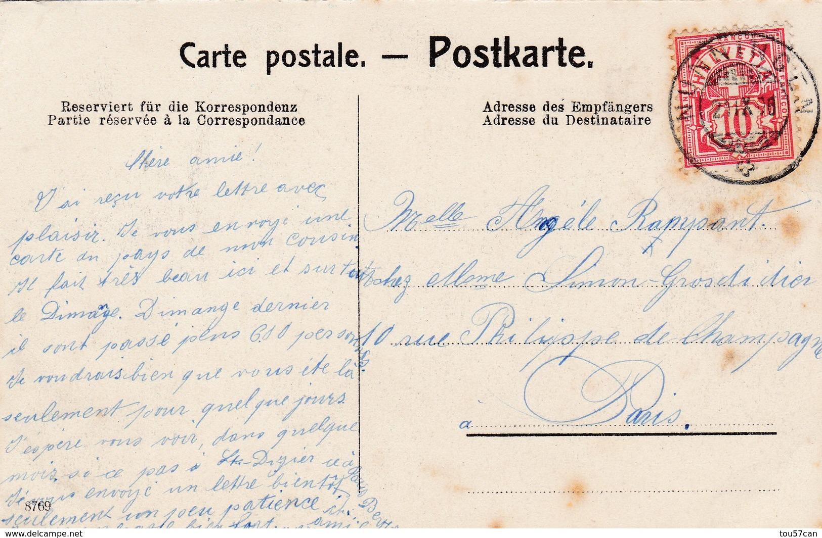 BASEL - BÂLE -  BS - SUISSE - SCHWEIZ - PEU COURANTE CPA. ANIMÉE DE 1906. - BS Bâle-Ville