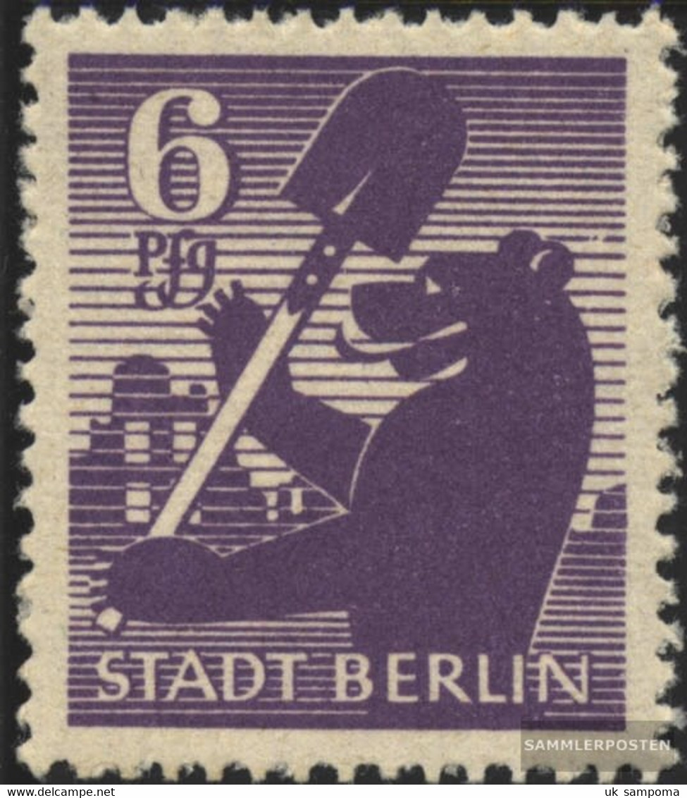 Soviet Zone (Allied.cast.) 2A B WB Z Tested Unmounted Mint / Never Hinged 1945 Berlin Bear - Soviet Zone