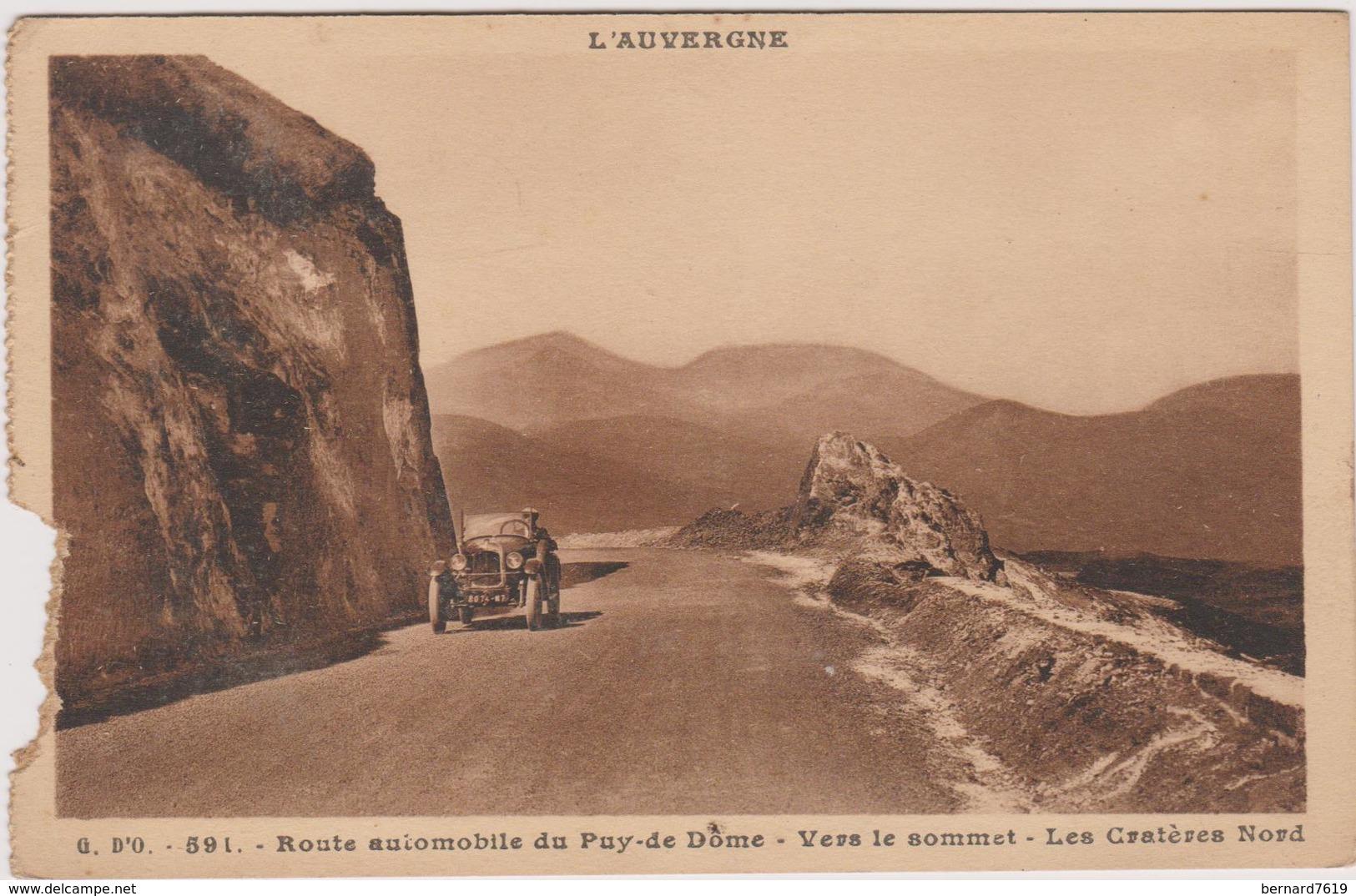 63  Le Puy De Dome  Route Automobile Vers Lesommet  Les Crateres Nord - Other Municipalities