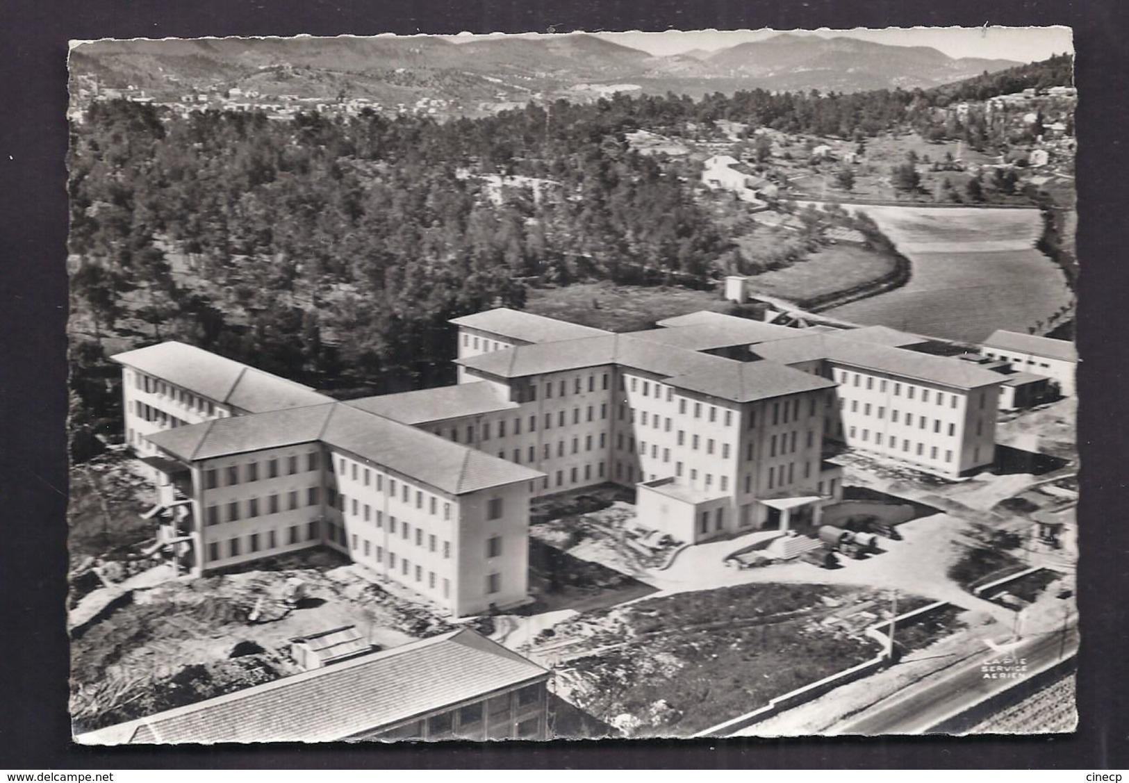 CPSM 30 - ALES - Le Nouvel Hôpital - TB PLAN Aérien Etablissement De Santé TB PHOTO NOIR ET BLANC EN AVION AU-DESSUS DE - Alès