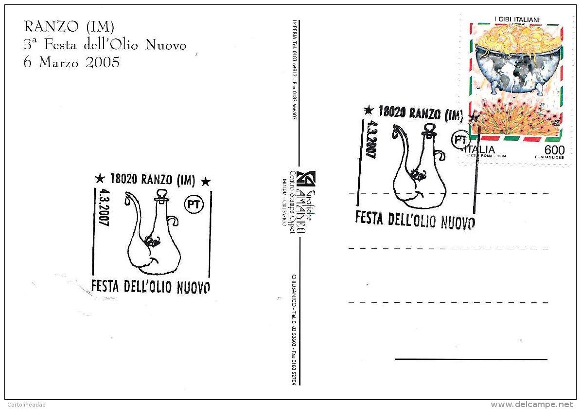 [MD2098] CPM - RANZO (IM) - 3° FESTA DELL'OLIO NUOVO - CON ANNULLO 4.3.2007 - NV - Imperia
