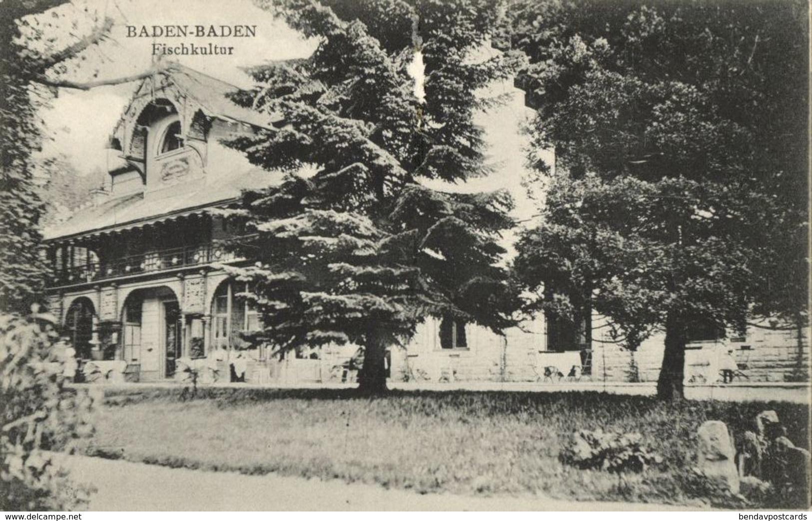 BADEN-BADEN, Fischkultur (1910s) AK - Baden-Baden