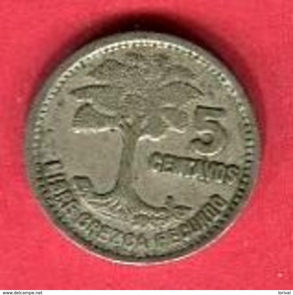 5 CENTAVOS (KM 257/1) TB+ 2 - Guatemala