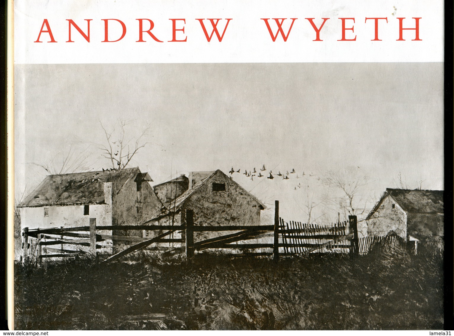 ANDREW WYETH ( Peintre Américain 1917 - 2009 )         DESSINS A LA BROSSE SECHE ET AU CRAYON. 1963 - Beaux-Arts