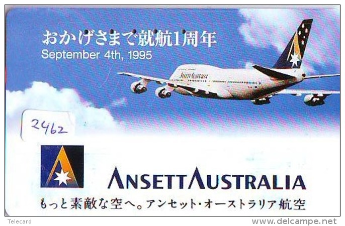Télécarte  JAPON * ANSETT AUSTRALIA  (2462) * AVIATION * AIRLINE Phonecard  JAPAN AIRPLANE * FLUGZEUG - Avions