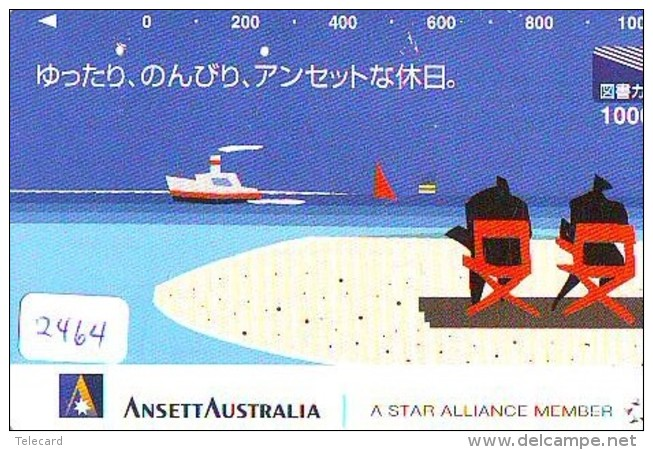 Télécarte  JAPON * ANSETT AUSTRALIA  (2464) * AVIATION * AIRLINE Phonecard  JAPAN AIRPLANE * FLUGZEUG - Airplanes