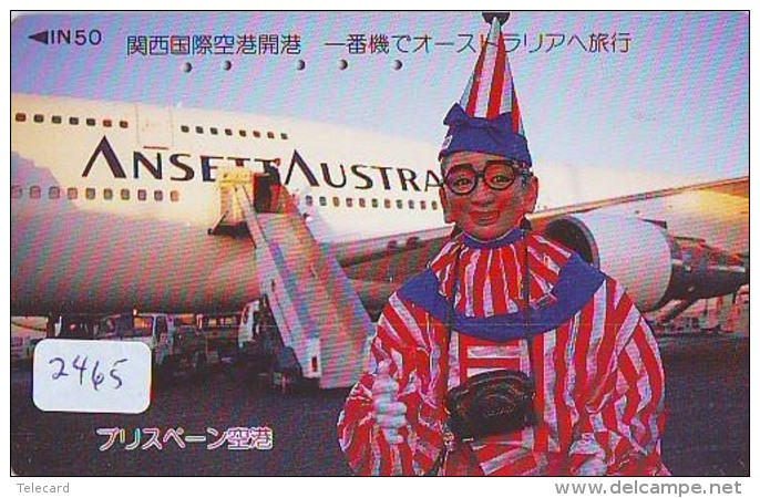 Télécarte  JAPON * ANSETT AUSTRALIA  (2465) * AVIATION * AIRLINE Phonecard  JAPAN AIRPLANE * FLUGZEUG - Airplanes