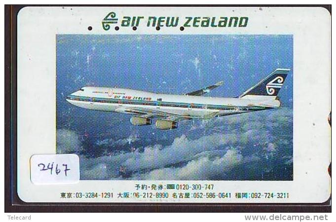 Télécarte  JAPON * AIR NEW ZEALAND  (2467) * AVIATION * AIRLINE Phonecard  JAPAN AIRPLANE * FLUGZEUG - Avions