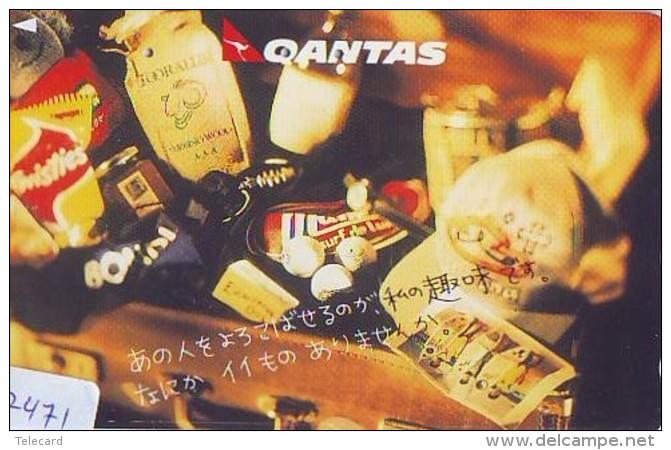 Télécarte  JAPON * QANTAS  (2471) * AVIATION * AIRLINE Phonecard  JAPAN AIRPLANE * FLUGZEUG - Airplanes