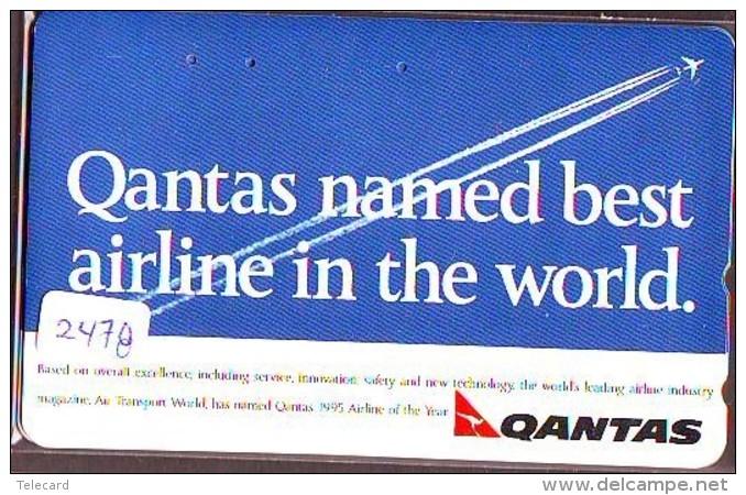 Télécarte  JAPON * QANTAS  * (2478) * AVIATION * AIRLINE Phonecard  JAPAN AIRPLANE * FLUGZEUG - Avions