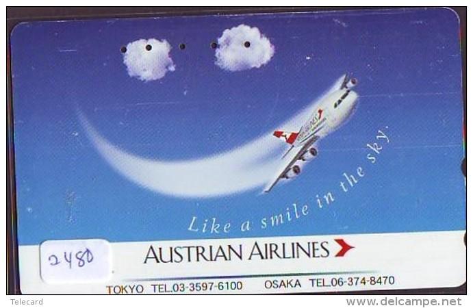 Télécarte  JAPON * AUSTRALIAN AIRLINES  (2480) * AVIATION * AIRLINE Phonecard  JAPAN AIRPLANE * FLUGZEUG - Airplanes