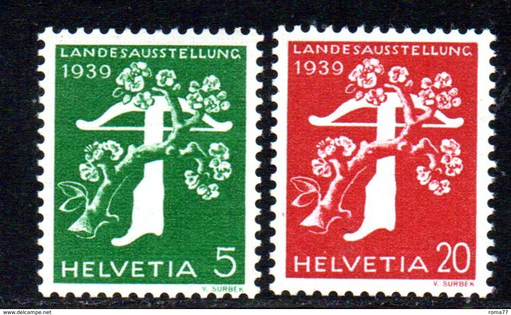 479/1500 - SVIZZERA 1939 , Unificato N. 337A-339A  ***  MNH.  Leggenda Tedesca. Carta Goffrata - Nuovi