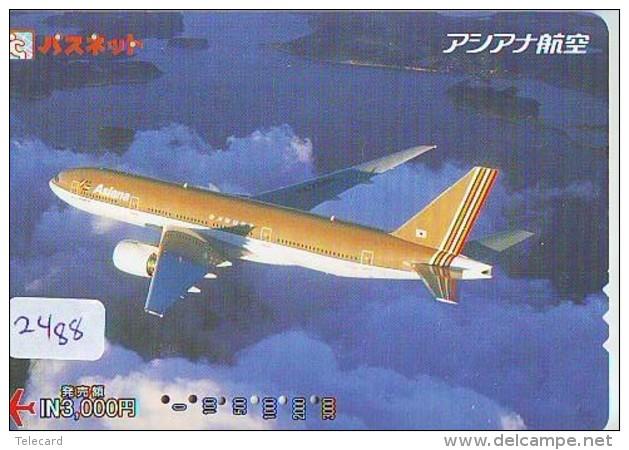 Télécarte  JAPON * ASIANA AIRLINES *  (2488)  AVIATION * AIRLINE Phonecard  JAPAN AIRPLANE * FLUGZEUG - Avions