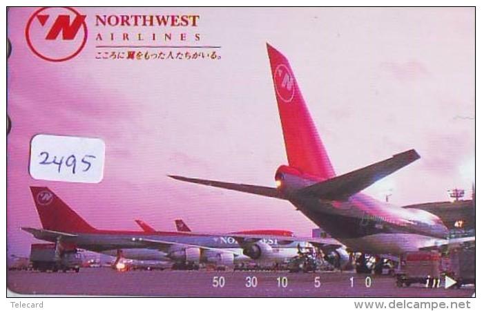 Télécarte  JAPON * NORTHWEST AIRLINES *  (2495)  AVIATION * AIRLINE Phonecard  JAPAN AIRPLANE * FLUGZEUG - Avions
