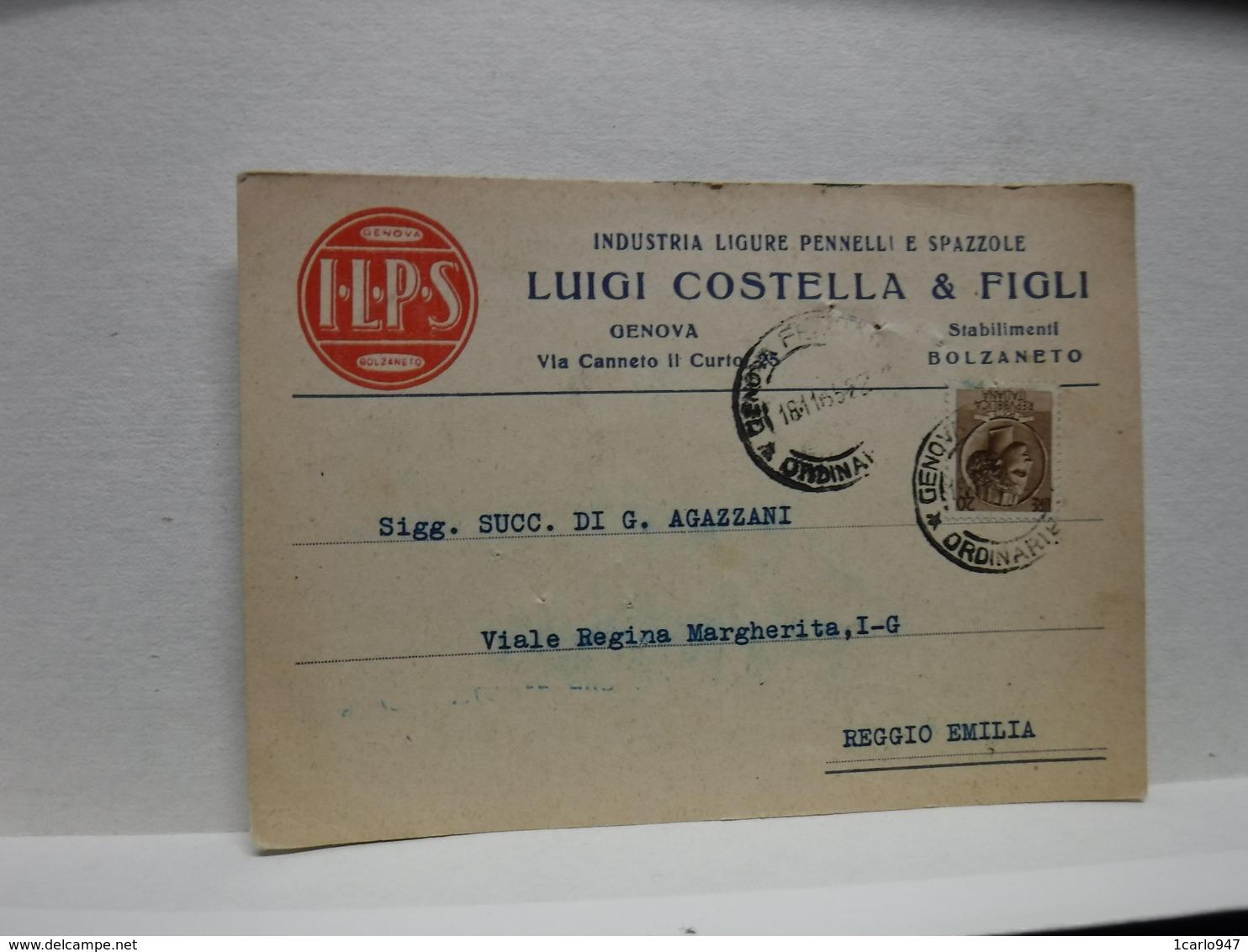 BOLZANETO   -- GENOVA --  LUIGI COSTELLA  E FIGLI -- INDUSTRIA PENNELLI  E SPAZZOLE - Genova (Genoa)
