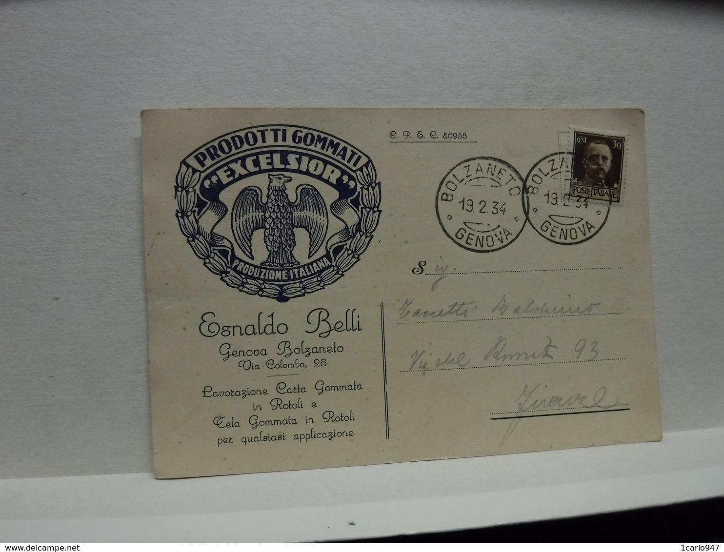 BOLZANETO   -- GENOVA --   ESNALDO BELLI  -- PRODOTTI GOMMATI EXCELSIOR - Genova (Genoa)