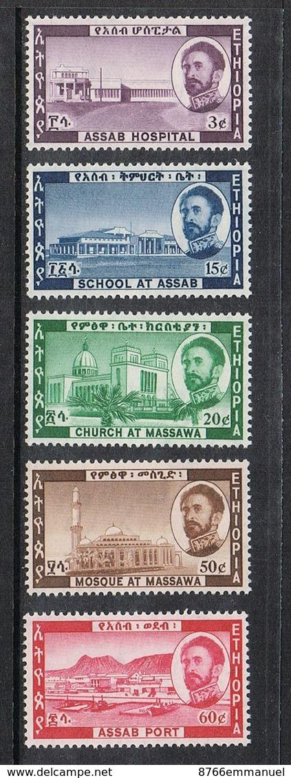 ETHIOPIE N°393 A 397 N** - Ethiopie