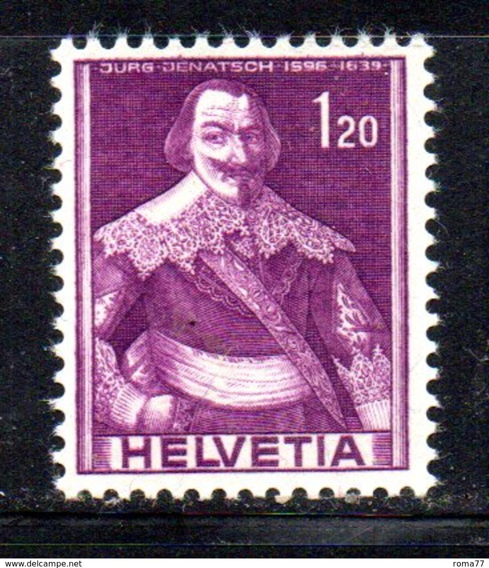 491/1500 - SVIZZERA 1941 , Unificato N. 364  ***  MNH.  Soggetti Storici - Nuovi