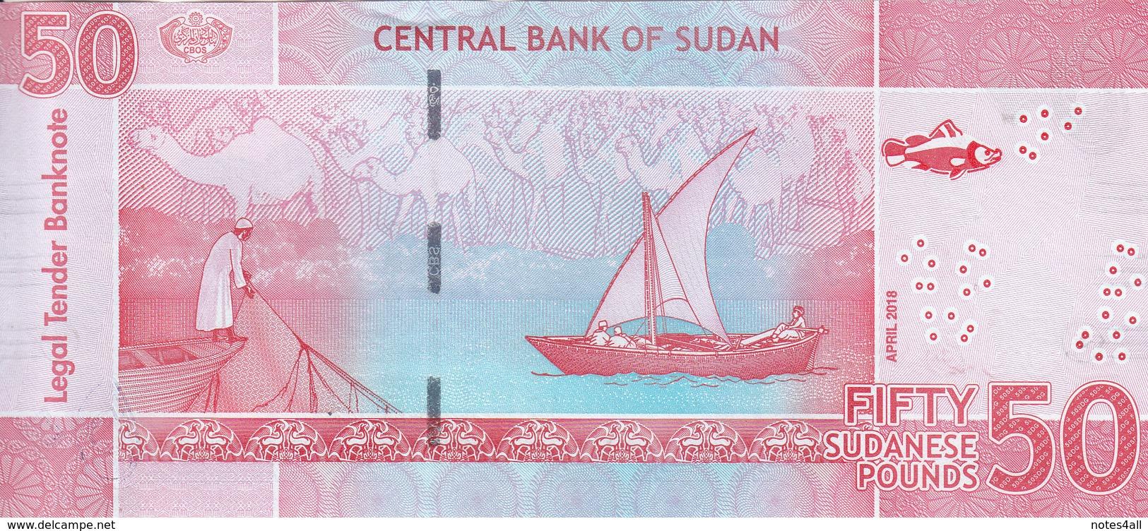 SUDAN 50 POUNDS 2018 P-NEW REPLACEMENT UNC */* - Soudan