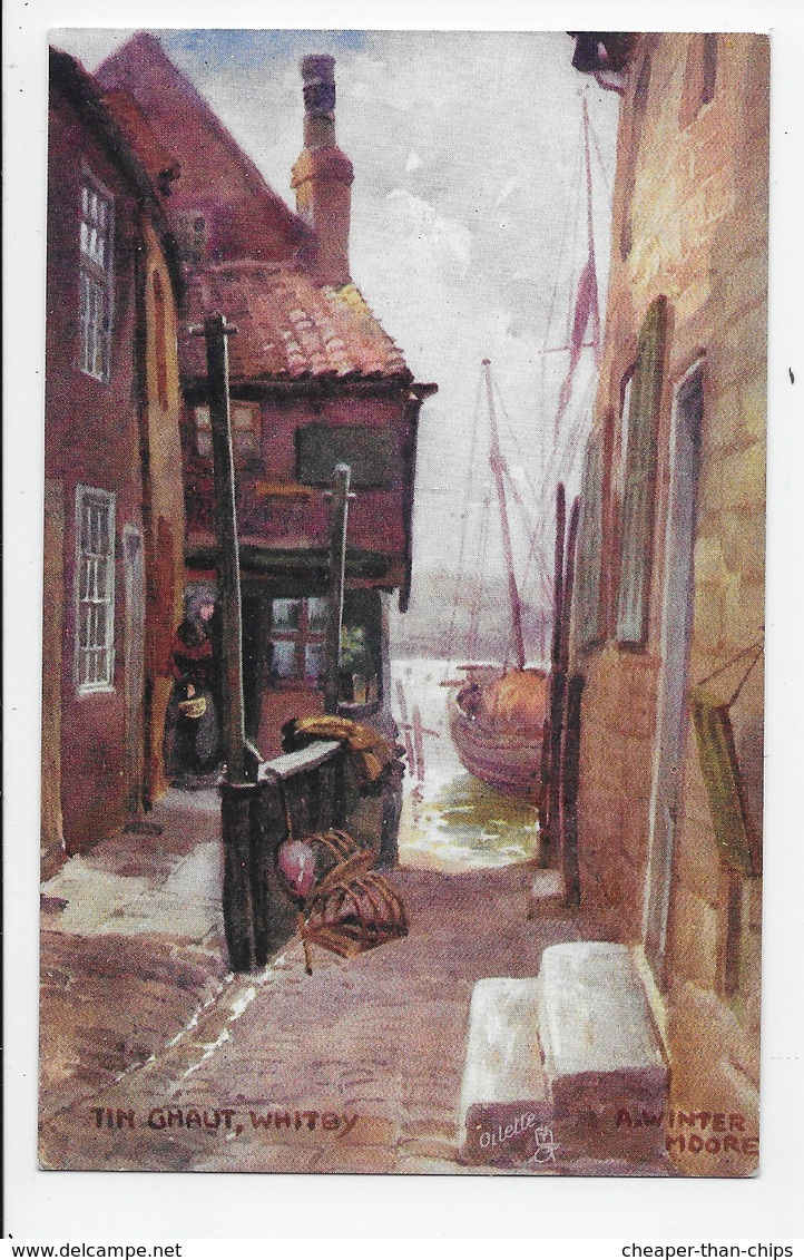 Tin Ghaut, Whitby - Winter Moore - Tuck Oilette 7501 - Whitby