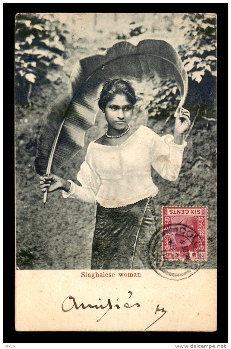 SRI-LANKA - CEYLAN - SINGHALESE WOMAN - Sri Lanka (Ceilán)